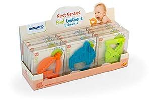 Miniland- Display Pixel Teethers & Chewers (12 Unidades) Mordedor para bebé (97299)