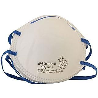 Connex COXT939121 FFP2 Fine Dust Masks, White/Blue, Set of 2 Piece