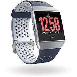 Fitbit Ionic Adidas Edition - Reloj, Unisex Adulto, Color Azul (Tinta) / Gris (Hielo), Talla Única