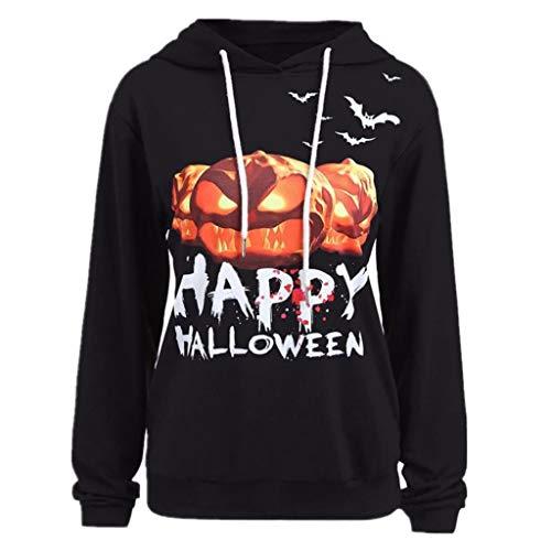 SHOBDW Damen Halloween Kürbis Teufel Drucken Sweatshirt Pullover Tops Bluse Shirt Frauen Plus Größe 3D Printing Trendigen Activewear Lauftraining - Plus Größe Sexy Werwolf Kostüm
