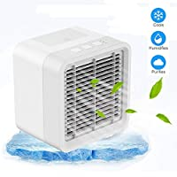 Ice-Beauty-ukzy Air Conditioner Portable Mini Air Cooler USB Cooling Air Humidifier And Purifier Desktop Cooling Fan For Office And Home Traveling Beach Summer