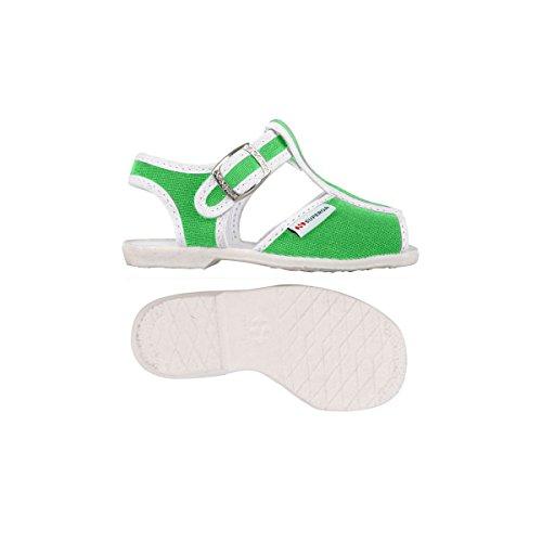 Superga 1200-Cotj, Chaussures à Brides Unisexe-Enfant, Rose Bright Green