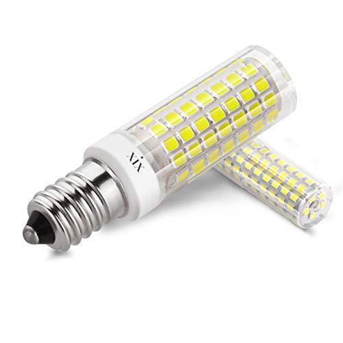 XIX E14 LED Kandelaber Glühbirne, 90-265V 6W Äquivalent 70 Watt E14 Vintage Edison Glühlampe Halogen Glühbirnen, nicht Dimmbar, Tageslicht Weiß 6000K (2er Pack)
