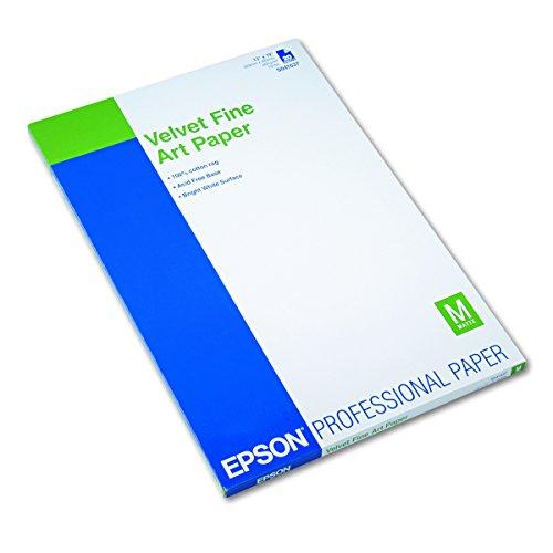 Epson C13S041637 Velvet fine art paper inkjet 260g/m2 DIN A3+ 20 Blatt Pack