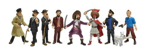 Tintín Plastoy Las Aventuras Tubo con Figuras de los Personajes 2