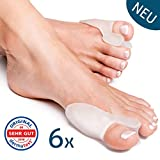 Bunion Correctors Toe Straightener (Transparent, 6 Pieces) Hallux Valgus by YogaMedic - Soft, Comfortable - Bunion Support, Pads, Splint, Separator, BPA Free