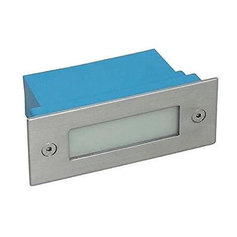 Applique led exterieur encastrable rectangulaire 1.5 watt - IP54 - Couleur eclairage - Blanc neutre