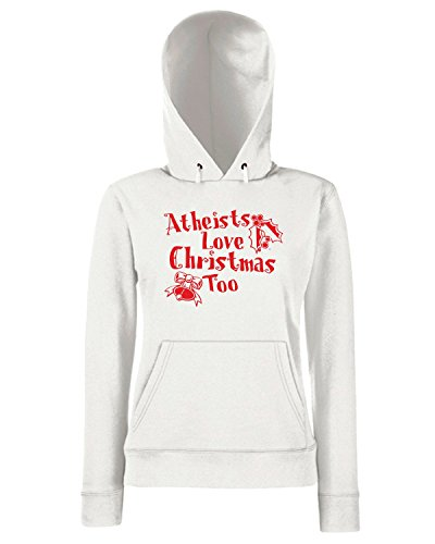 T-Shirtshock - Sweats a capuche Femme FUN0652 athesists love christmas too tshirt yel mens cu 4 1 (2) Blanc