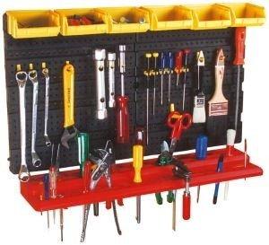 Werkzeugwand mit Haken, Konsole & Sichtboxen - 2