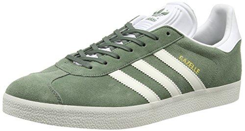 adidas Gazelle, Baskets Basses Homme Vert (Trace Green/Off White/Footwear White)