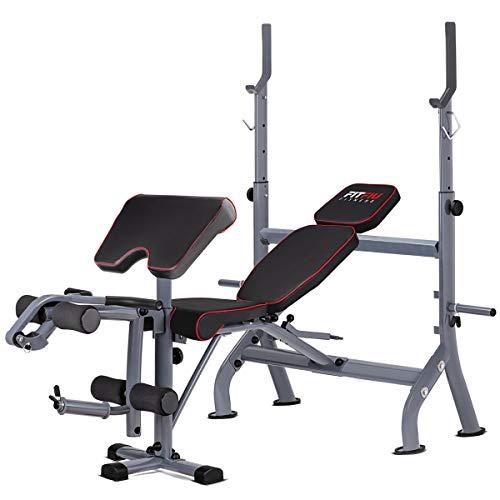 Fitfiu - BP20 Banco de musculacion Pesas Entrenamiento Fitness multifuncion, Adultos Unisex, Negro...