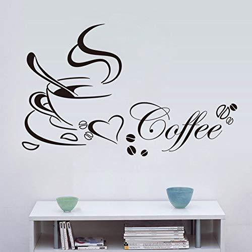 Kreative Kaffee Gourmet Küche Kunst Wandaufkleber Diy Vinyl Home Decor Restaurant Bar Abnehmbare Wasserdichte Tapete YUJIANF (Küche Gourmet-kaffee)