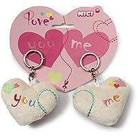 """Nici 38566 - LOVE Herzen 2D """"YOU"""" und """"ME"""", 7 cm, Schlüsselanhänger auf Header-Karte"""