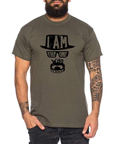 Knocks maglietta da uomo t-shirt breaking bad call tv serie, größe2:large, farbe2:cachi