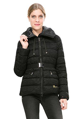 DESIGUAL - Cappotto donna cappuccio kristie 38 (s) nero