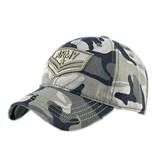 Superjiao Camouflage Snapback Baseball Caps Herren Damen Army Stickerei Hut Outdoor Sport Baumwolle Knochen Camo Hat Gr. Einheitsgröße, Grün 1 -