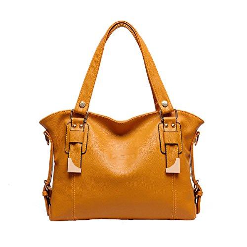Di Modo Delle Signore Di Grande Capienza Messenger Bag Multi-color Yellow