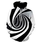 Dylung Männer Tops, Herren Winter 3D Vortex Printed Kapuzenpulli Übergröße Tops Hoodie Hooded Pullover Bluse Mantel Coat Jacke Jumper Sweatshirt Herren