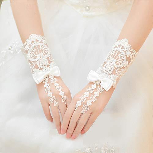 Zhongsufei-WA Brautparty-Handschuhe Lange Fingerlose Strass Perlen Spitze Braut Handschuhe für Formale Hochzeit Prom Party Für Hochzeitskleidhandschuhe - Satin-oper Länge Brauthandschuhe