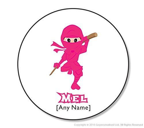 chenk–Ninjutsu Untersetzer (eine gopersonalised Design). Jeder Name jede Nachricht. Martial Arts Japanische Selbstverteidigung Combat Sport Fighting Fighter Ninjitsu Kung Fu Kungfu Ninja Drink Untersetzer Geschenke für ihre Mottoparty Design (braun Augen), holz, weiß, Round Coaster (Mädchen Ninja-namen)
