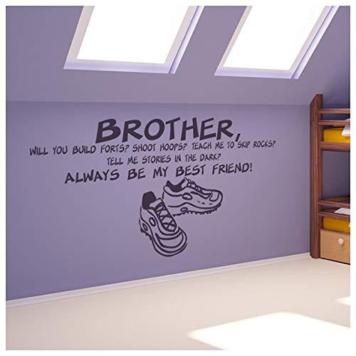 azutura Bruder Freunde Familie & Freunde Zitate Wandtattos Heim Dekor Art Decals verfügbar in 5 Größen und 25 Farben Klein Weiß - Bruder Kleine Wandtattoos Zitate,