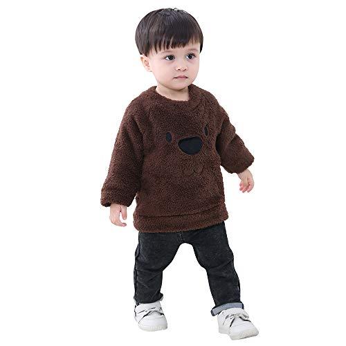 Yanhoo Kinderkleidung, Kindermode Baby Jungen Winter Teddy-Fleece Pullover -