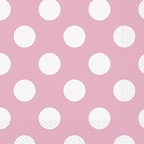 Serviette Papier Rose - Unique Party - 37972 - Paquet de