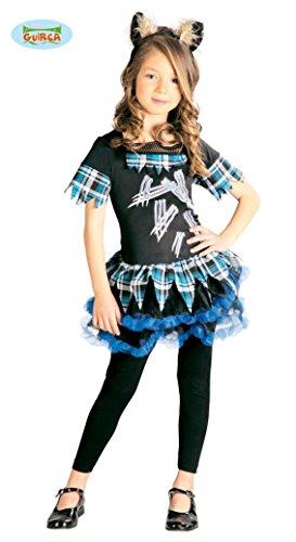 Werwolf Kleid für Mädchen Gr. 110-146, (Wolf Mädchen Kostüm Halloween)