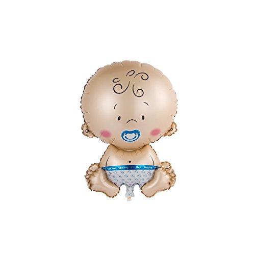 schenken-24 Folienballon XXL zur Geburt/Motiv und Farbe Wählbar/Geburt/Baby/, Folienballons Geburt:Baby Blau