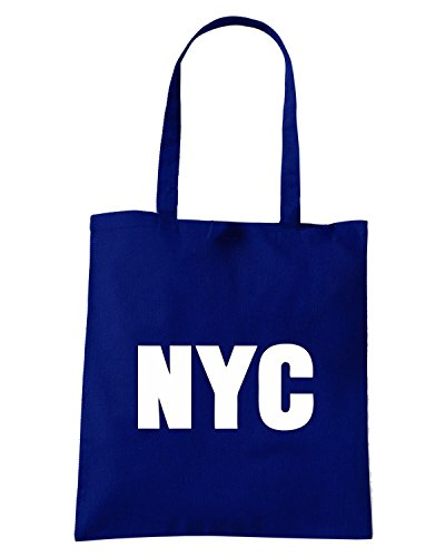 T-Shirtshock - Borsa Shopping OLDENG00349 nyc new york city white Blu Navy