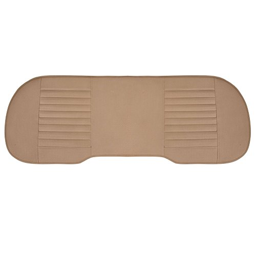 Ardermu Coprisedile per Auto - PU Cuoio di bambù Traspirante Cuscino coprisedile Pad Mat per Auto Car Chair (Beige, Sedile Posteriore)