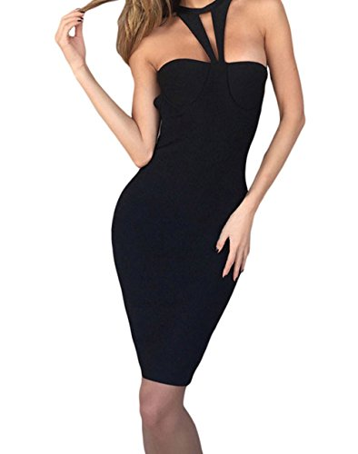bling-bling-dress-womens-black-strappy-cutout-halter-top-bandage-dress-l