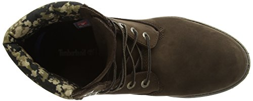 Timberland 6 In Boot Ftb_6 In Double Collar Boot, Bottes rembourrées jambe courte classique homme brown (Marrone (Marrone))
