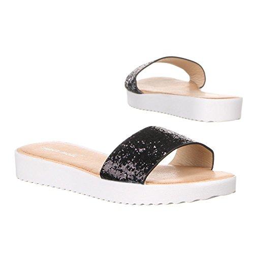 Damen Schuhe, 50951, SANDALEN Schwarz