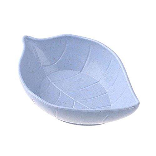 TOOGOO forme de feuilles, bol a vaisselle pour bebe enfants, paille de ble, bol de riz plat de sauce de soja, plaque sous - assiette, vaisselle, recipient de nourriture