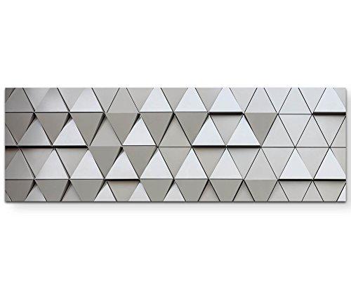Abstraktes Bild – architektonische Wand - Panoramabild auf Leinwand in 120x40cm (Abstrakte Bilder)