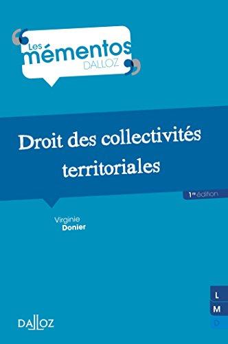 Droit des collectivités territoriales - 1ère édition: Mémentos