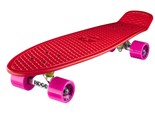 Ridge Skateboard Big Brother Nickel 69 cm Mini Cruiser, rot/rosa