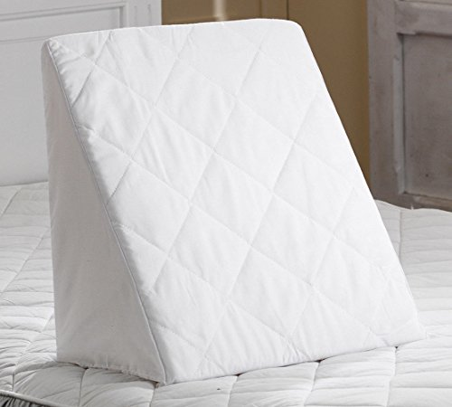 Keilkissen für Bett und Sofa aus Schaumstoff mit Abnehmbarem und Waschbarem Gesteppte Abdeckung | Lesekissen Rückenstütze und Mehrzweckkissen zur Unterstützung von Rücken und Bein - Baumwolle Gesteppte Kissen-abdeckungen