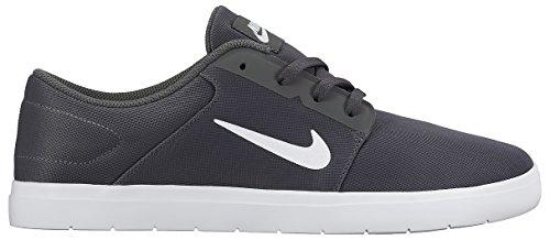 Nike Sb Portmore Ultralight, Chaussures de Skate Homme Gris / blanc (gris foncé / blanc)