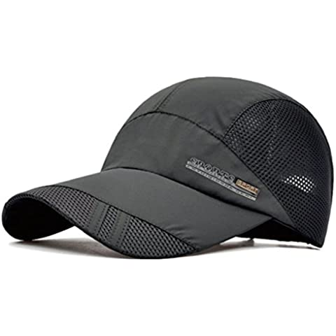 G7Explorer Quick Drying Breathable Running Outdoor Hat Cap (DimGray)