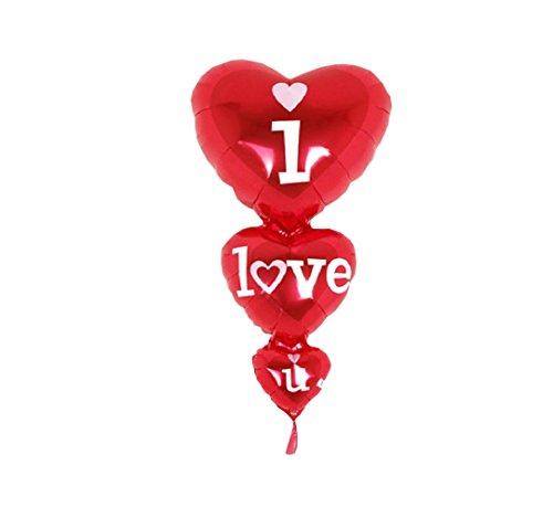 n P011 XL Folien Aluminium Luft Ballon Herz Liebe Valentinstag Hochzeit I Love you 80cm ★RM★ ()