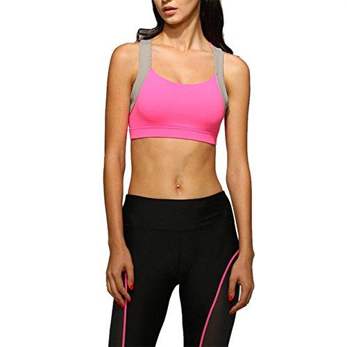 [Soutien-gorge de sport] - Brassière Sans Armature - Uni - Femme- Underwear -iiSport Rouge
