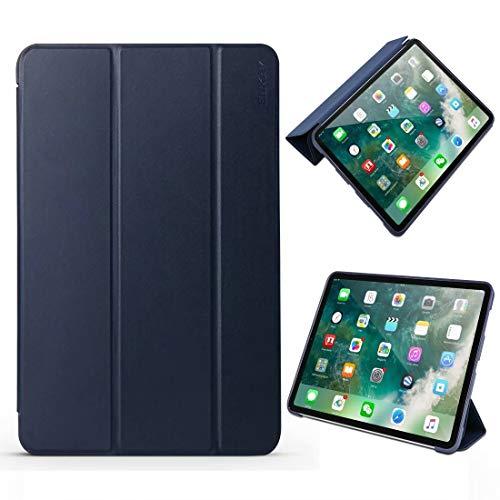 QINZIXIA EU Lammfell-Textur + TPU-Unterteil Horizontale Flip-Lederhülle für iPad Pro 11 Zoll (2018) , mit dreifach klappbarer Halterung und Schlaf- / Weckfunktion. * - * - (Farbe : Blau) - Blau Lammfell Brieftasche