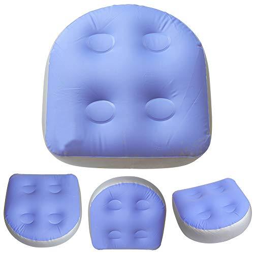 EMVANV Spa Sitzerhöhung mit Saugnäpfen, Rückenpolster für Whirlpool-Sitz, aufblasbar, wasserdichte Badewannen-Massagematte - 4 Stück (Saugnäpfe Badewanne Sitz)