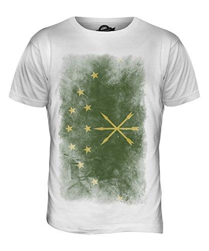 CandyMix Adygeja Verblichen Flagge Herren T Shirt Weiß