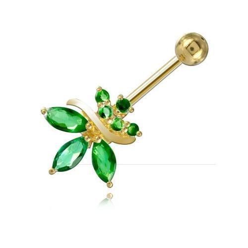 piercing-banane-de-nombril-plaque-or-orchidee-jonc-tige-16-mm-long-int-8-mm-boule-5-mm-emeraude