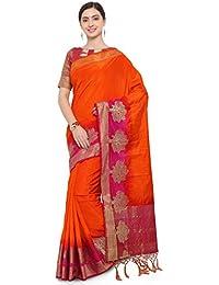 G Stuff Fashion Women Cotton Silk Saree with Blouse piece_SE_New Yellow Saree