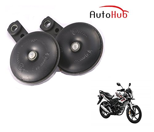 Auto Hub Uno Minda Bike Horn Set For Honda CB Unicorn 150 - Set of Two (Black)  available at amazon for Rs.499