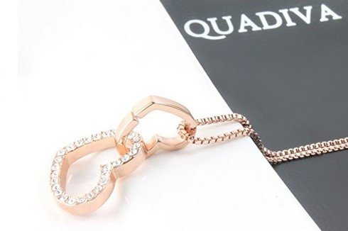 QUADIVA-G-Damen-Halskette-Herzkette-Kette-mit-Anhnger-Herz-Farbe-rosegold-verziert-mit-funkelnden-Kristallen-von-Swarovski